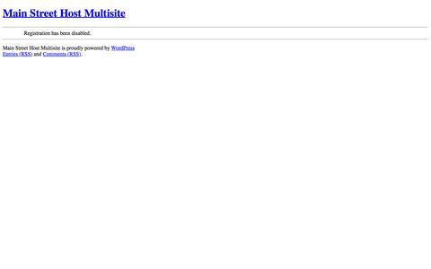 Screenshot of Blog mainstreethost.com - Main Street Host Multisite - captured Sept. 21, 2015