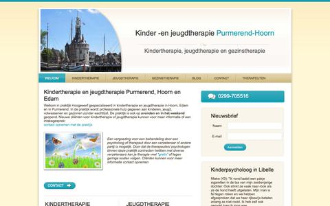Screenshot of Home Page kinder-enjeugdtherapie.nl - Kindertherapie en jeugdtherapie in Purmerend en Hoorn - captured Sept. 20, 2018