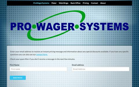 Screenshot of Pricing Page prowagersystems.com - ProWagerSystems - Enterprise Poker & Bingo Software - captured Dec. 8, 2018