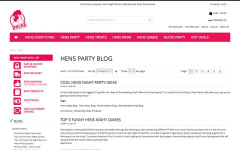 Screenshot of Blog peckaproducts.com.au - Blog - captured Sept. 29, 2014