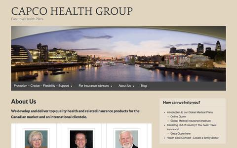 Screenshot of About Page wordpress.com - About Us – CAPCO HEALTH GROUP - captured July 11, 2017