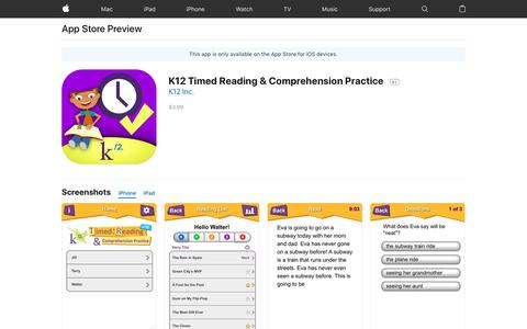 K12 Timed Reading & Comprehension Practice on the AppStore
