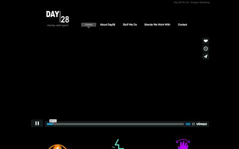 Screenshot of Home Page day-28.com - Day 28 - captured Oct. 5, 2014