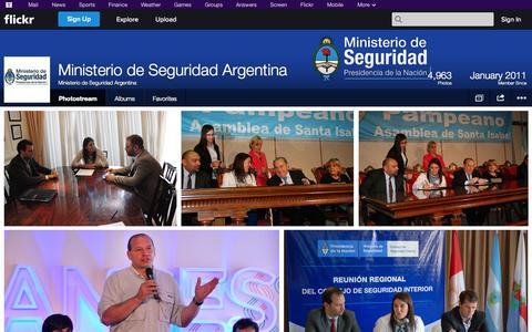 Screenshot of Flickr Page flickr.com - Flickr: Ministerio de Seguridad Argentina's Photostream - captured Oct. 23, 2014