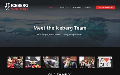 Screenshot of Team Page icebergwebdesign.com - Meet the Iceberg Team | Experienced Custom Website Developers - captured July 13, 2019