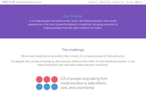 Screenshot of About Page iodine.com - About - Iodine.com - captured July 18, 2016