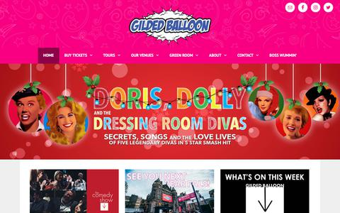 Screenshot of Home Page gildedballoon.co.uk - Gilded Balloon   Home of Late'n'Live & So You Think You're Funny? - captured Nov. 4, 2018
