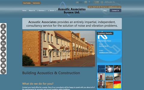 Screenshot of Developers Page aasussex.co.uk - Acoustic Services | Building Acoustics & Construction Client Sector | Acoustic Associates Sussex Ltd. - captured Oct. 7, 2017