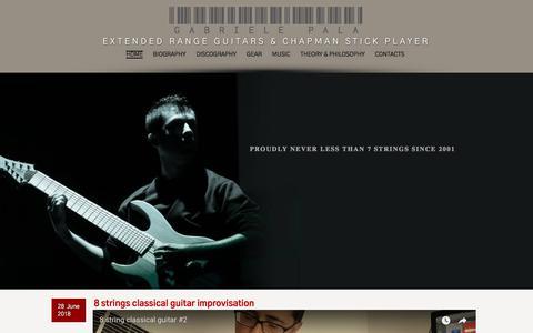 Screenshot of Home Page gabrielepala.it - Gabriele Pala | guitar, bass, piano & chapman stick player - captured July 16, 2018