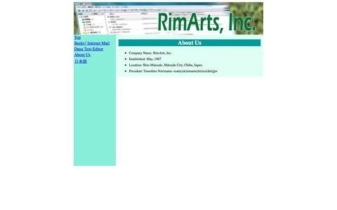 Screenshot of About Page rimarts.com - About Us - RimArts, Inc. - captured Jan. 24, 2017
