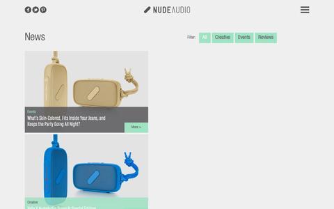 Screenshot of Press Page nudeaudio.com - NudeAudio   News - captured Oct. 27, 2015