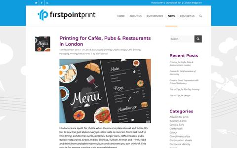Screenshot of Press Page firstpointprint.co.uk - News blog incl. current printing projects, design case studies, technical information ... | Firstpoint Print - captured Nov. 25, 2016