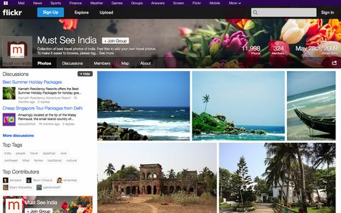 Screenshot of Flickr Page flickr.com - Flickr: The Must See India Pool - captured Oct. 22, 2014