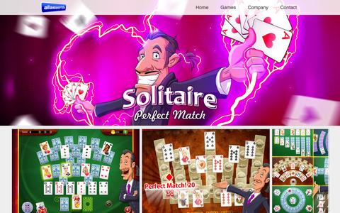 Screenshot of Home Page aliasworlds.com - Solitaire Perfect Match by Aliasworlds - captured Sept. 10, 2015
