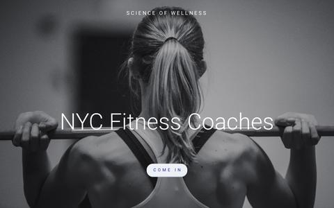 Screenshot of Home Page nycfitnesscoaches.com - NYC Fitness Coaches - captured Feb. 27, 2016