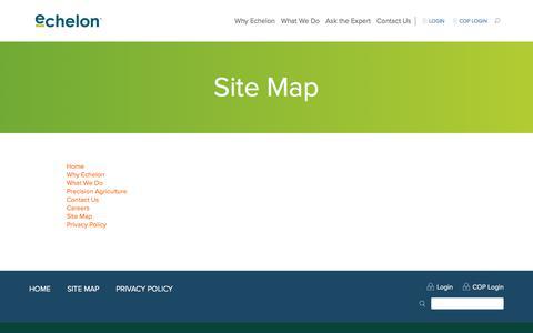 Screenshot of Site Map Page echelonag.ca - Site Map | echelonag.ca - captured July 15, 2018