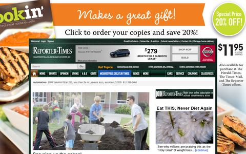 Screenshot of Home Page reporter-times.com - Reporter-Times - captured Sept. 18, 2014