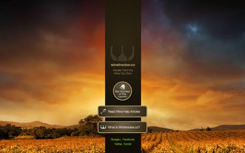 Screenshot of Home Page winetracker.co - WineTracker.co | The easiest way to keep track of your wine - captured Jan. 26, 2015