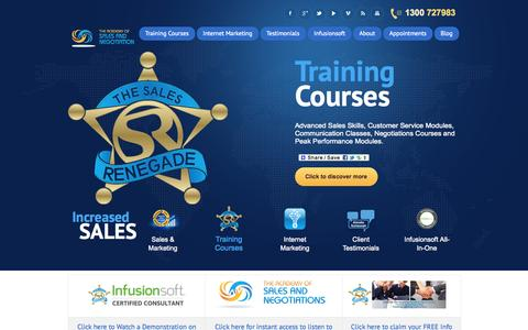 Screenshot of Home Page Site Map Page salesandnegotiations.com - The Academy Of Sales And Negotiations | Coach Cameron Roberts | Sales and Marketing |Sales Training | Negotiation Courses | Sales Systems | Business Mentoring  | The Academy of Sales and Negotiations - captured Oct. 7, 2014