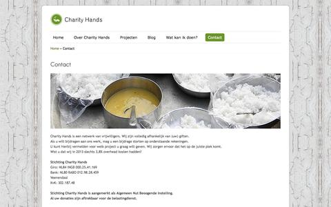 Screenshot of Contact Page charityhands.org - Contact - Charity HandsHulporganisatie Charity Hands - captured Sept. 29, 2014