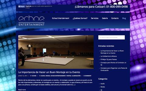 Screenshot of Blog echoe.mx - Blog de Echoe Entertainment - captured Oct. 1, 2014