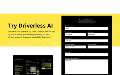 Screenshot of Trial Page h2o.ai - Try Driverless AI - H2O.ai - captured Sept. 20, 2018