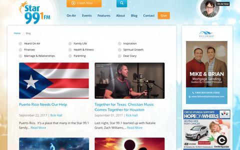 Screenshot of Blog star991.com - Star 99.1 - captured Sept. 30, 2017