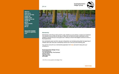 Screenshot of Signup Page buckinghamgas.com - Buckinghamshire Badger Group – Join - captured Aug. 4, 2018
