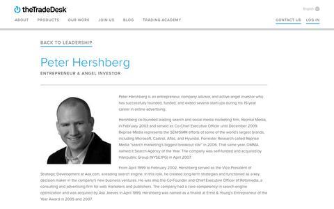 Screenshot of Team Page thetradedesk.com - Peter Hershberg | The Trade Desk - captured June 8, 2017