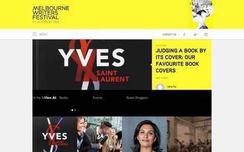 Screenshot of Blog mwf.com.au - Blog → Melbourne Writers Festival - captured Sept. 19, 2014