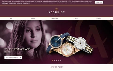 Screenshot of Home Page accurist.co.uk - Accurist Watches - Since 1946 - captured Feb. 5, 2016