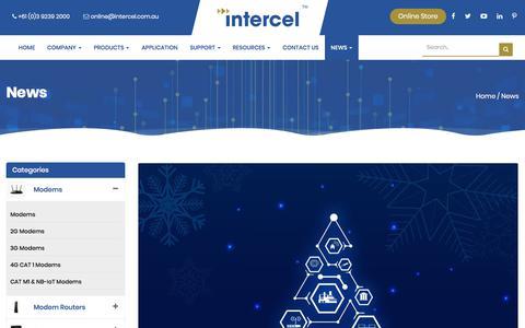 Screenshot of Press Page intercel.com.au - News Archives - Intercel - M2M Wireless Solutions - captured Dec. 1, 2019