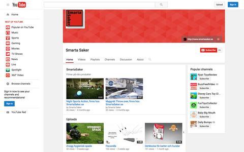 Screenshot of YouTube Page youtube.com - Smarta Saker  - YouTube - captured Nov. 23, 2015