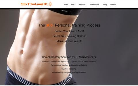 Screenshot of Services Page starknation.com - Personal Training at Stark - captured Dec. 11, 2016