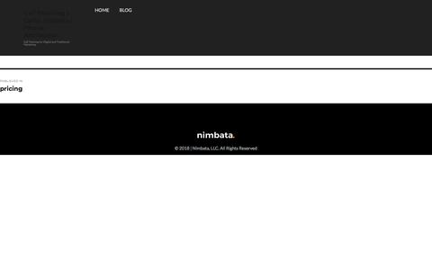 Screenshot of Pricing Page nimbata.com - pricing – Call Tracking | Caller Insights | Phone Attribution - captured Aug. 18, 2018