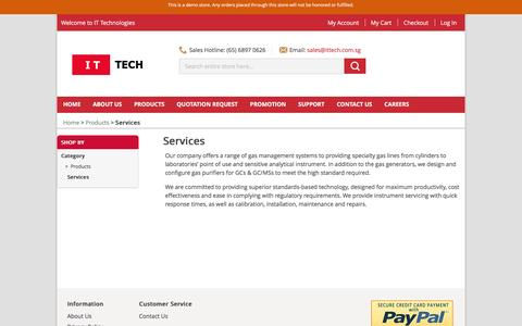 Screenshot of Services Page ittech.com.sg - Services - Products - IT Technologies Pte Ltd - captured Feb. 10, 2016