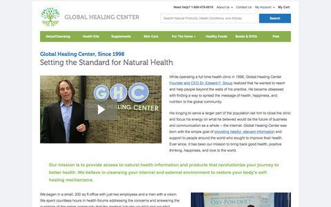 Screenshot of About Page globalhealingcenter.com - About Global Healing Center - captured Sept. 24, 2016