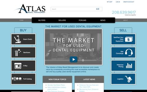 Screenshot of Home Page atlasresell.com - Home | Atlas Resell Management - captured Oct. 4, 2014