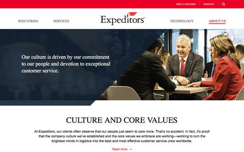Our Culture | Expeditors International of Washington, Inc.