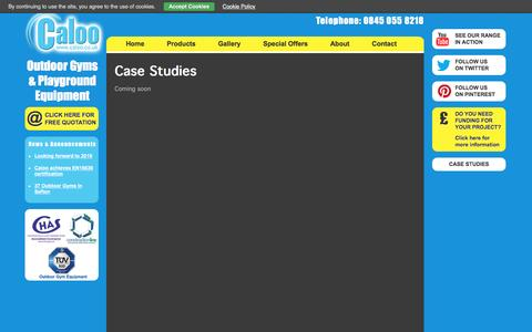 Screenshot of Case Studies Page caloo.co.uk - Case Studies - captured July 10, 2016