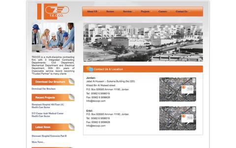 Screenshot of Locations Page teccojo.com - T.E.C.CO - Locations - captured Oct. 26, 2014