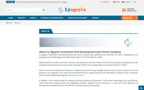 Screenshot of About Page lynguyen.com.vn - About Ly Nguyen Investment And Development Joint Stock Company - captured Sept. 26, 2018