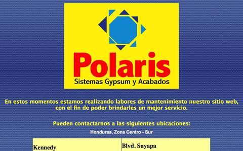 Screenshot of Home Page polarisinternacional.com - Polaris - Sistemas Gypsum y Acabados - captured Sept. 30, 2014