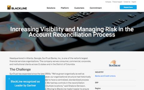 Screenshot of Case Studies Page blackline.com - SunTrust Bank | BlackLine Customer - captured Nov. 29, 2019