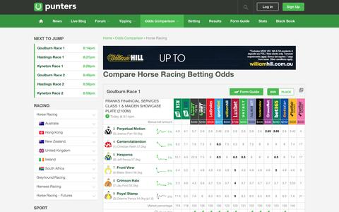 Compare Horse Racing Betting Odds