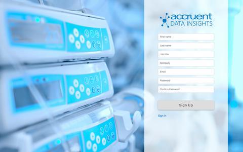 Screenshot of Trial Page accruent.com - Accruent Data Insights - captured Nov. 11, 2019