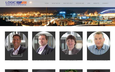 Screenshot of Team Page logic2020.com - Leadership Team | Logic20/20 - captured July 11, 2018