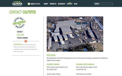 Screenshot of Team Page culpeperwood.com - Our Team | Culpeper Wood Preservers - captured Nov. 12, 2016