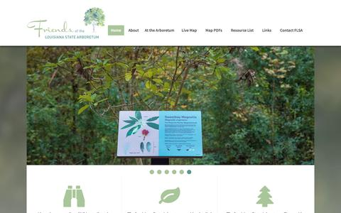 Screenshot of Home Page friendslaarb.org - Friends of the Louisiana State Arboretum - captured June 3, 2016