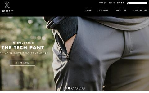 Screenshot of Home Page kitsbow.com - Mountain Bike Apparel | Kitsbow - captured Dec. 27, 2015
